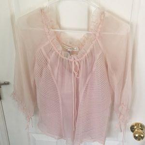 Diane von Furstenberg blouse with silk camisole